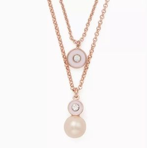 kate spade Pearly Delight double necklace